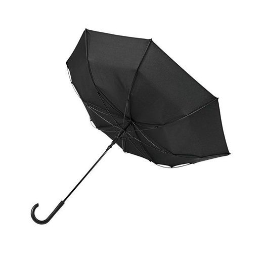 Ветрозащитный автоматический цветной зонт Kaia 23, черный