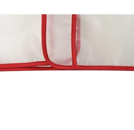 Дождевик Providence, прозрачный/красный с чехлом