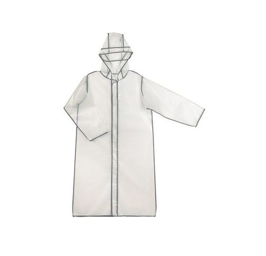 Дождевик Providence, прозрачный/серый светоотражающий с чехлом