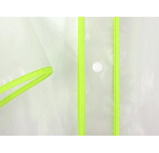 Дождевик Providence, прозрачный/зеленый с чехлом