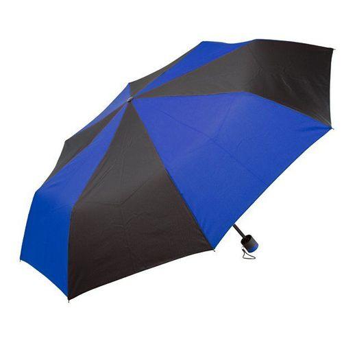 Зонт складной, синий/черный