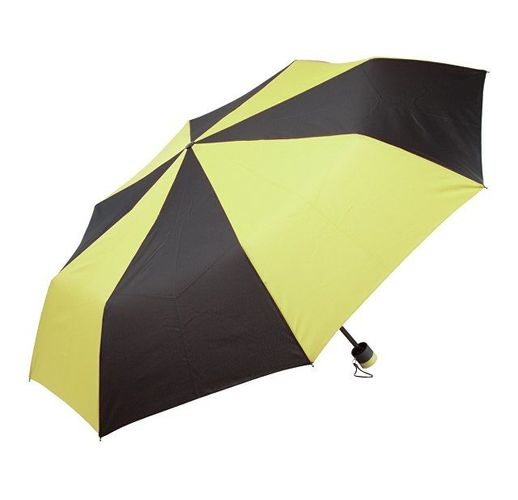 Зонт складной, желтый/черный