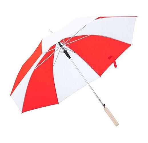 Зонт-трость для гольфа, белый/красный