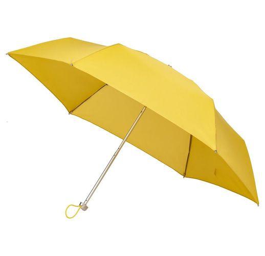 Складной зонт Alu Drop S, 3 сложения, механический, желтый (горчичный)