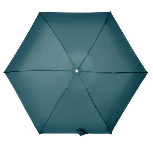 Складной зонт Alu Drop S, 4 сложения, автомат, синий (индиго)