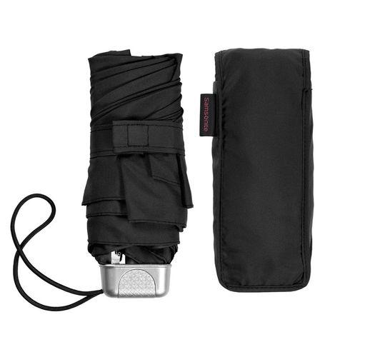 Складной зонт Alu Drop S, 5 сложений, механический, черный