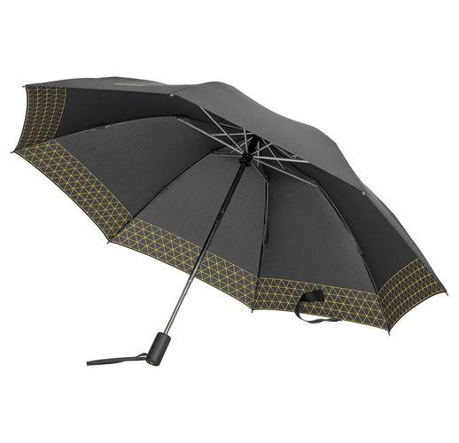 Зонт складной Up Way, автомат, серый с желтым