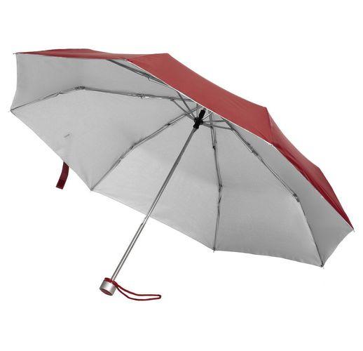 Зонт складной Silverlake, бордовый с серебристым
