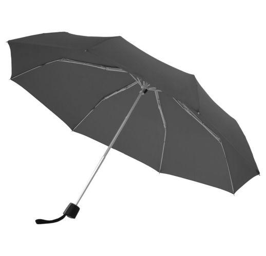 Зонт складной Fiber Alu Light, черный