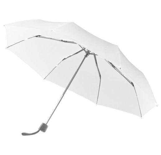 Зонт складной Fiber Alu Light, белый