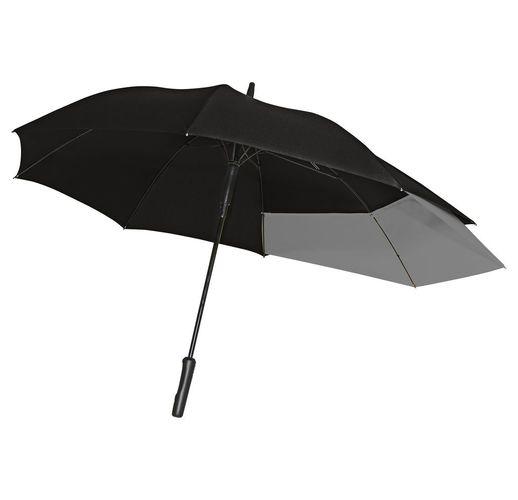Зонт-трость Fiber Move AC, черный с серым