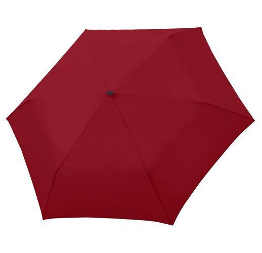 Зонт складной Carbonsteel Slim, красный