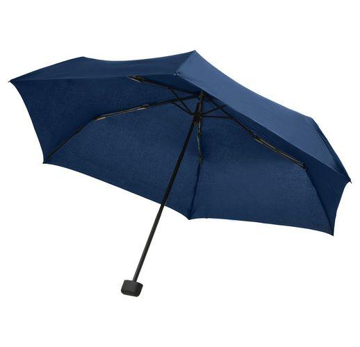 Зонт складной Mini Hit Flach, темно-синий