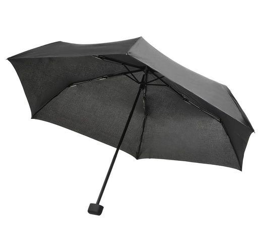 Зонт складной Mini Hit Flach, серый
