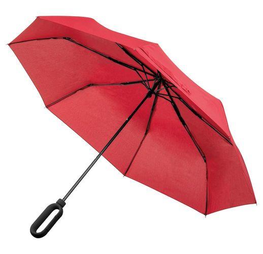 Зонт складной Hoopy с ручкой-карабином, красный