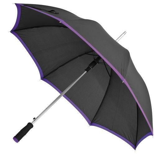 Зонт-трость Highlight, черный с фиолетовым