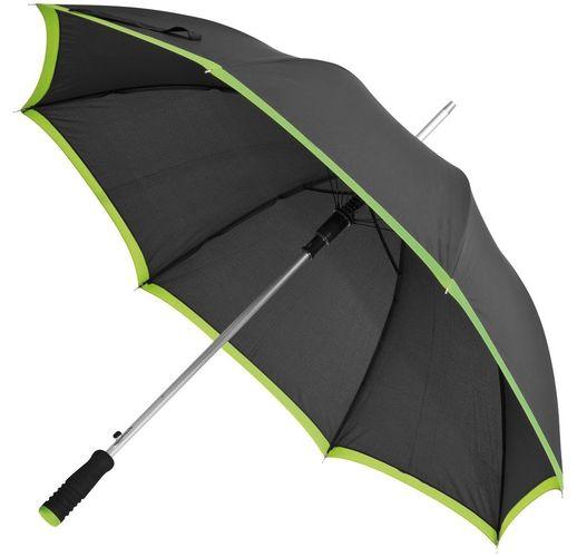 Зонт-трость Highlight, черный с зеленым
