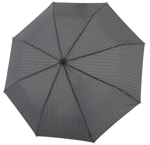 Складной зонт Fiber Magic Superstrong, серый в полоску