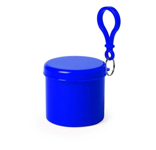 Дождевик BIRTOX белого цвета в синем футляре с карабином, 127 х 102 см. материал LDPE