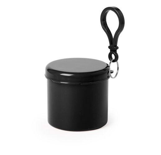 Дождевик BIRTOX белого цвета в чёрном футляре с карабином, 127 х 102 см. материал LDPE
