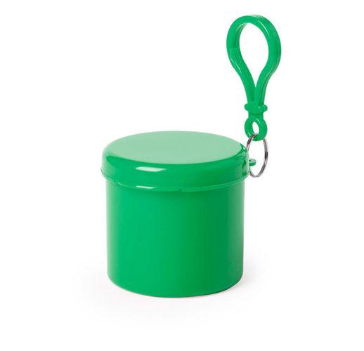 Дождевик BIRTOX белого цвета в зелёном футляре с карабином, 127 х 102 см. материал LDPE