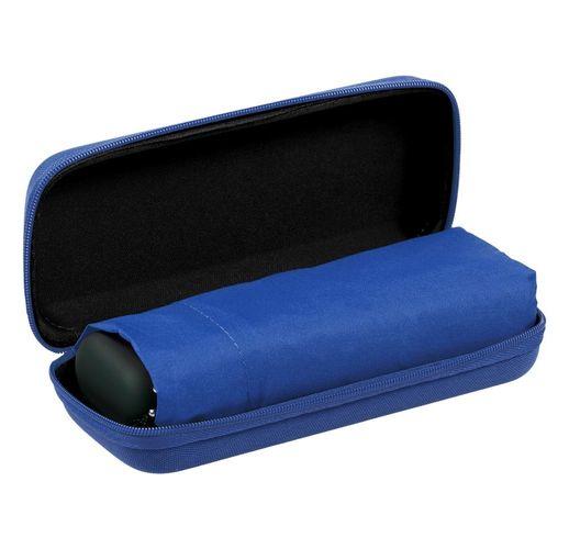 Зонт складной Unit Five, синий в черно-синем чехле