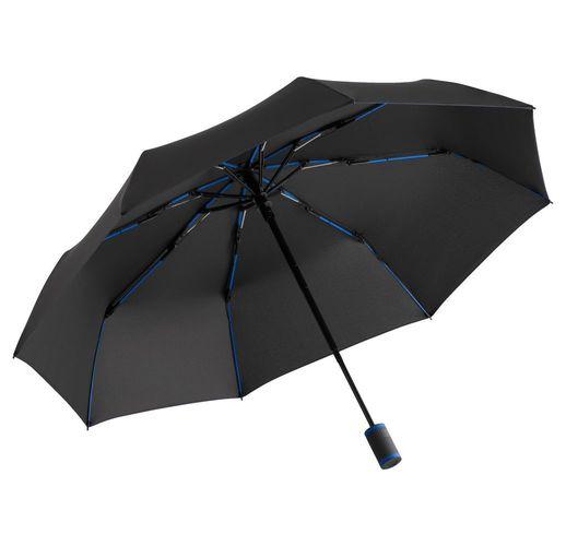 Зонт складной AOC Mini с цветными спицами, синий