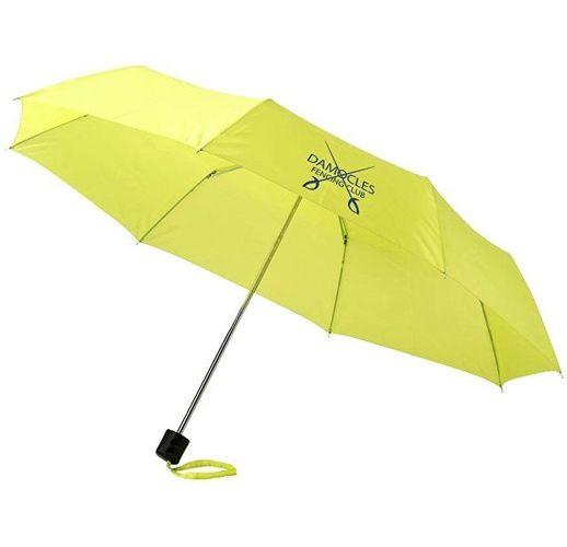 Зонт Ida трехсекционный 21,5, неоново зеленый