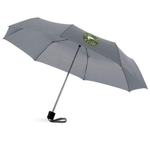 Зонт Ida трехсекционный 21,5, серый