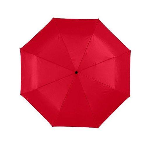 Зонт Alex трехсекционный автоматический 21,5, красный