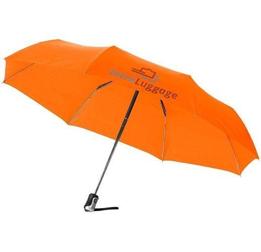 Зонт Alex трехсекционный автоматический 21,5, оранжевый