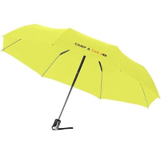Зонт Alex трехсекционный автоматический 21,5, неоново-зеленый