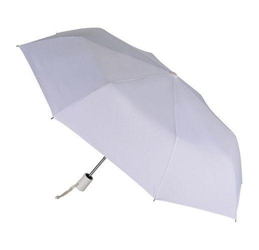 Зонт складной автоматический, белый