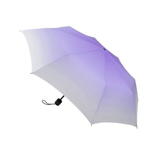 Зонт складной Shirley механический 21,5, белый/фиолетовый