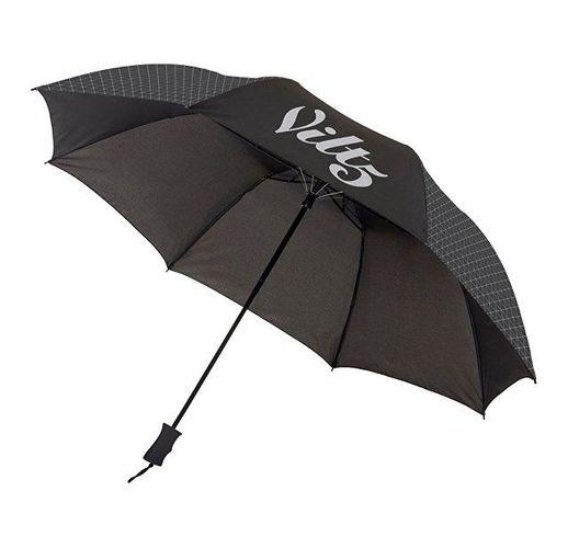 Зонт Victor 23 двухсекционный полуавтомат, черный