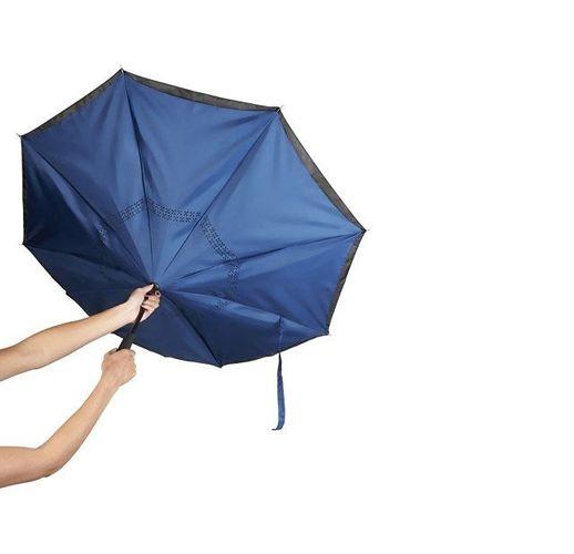 Зонт Lima 23 с обратным сложением, черный/темно-синий