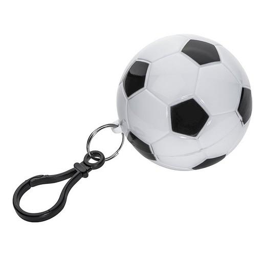 Дождевик пончо в чехле в виде футбольного мяча.
