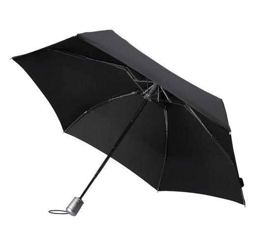 Складной зонт Alu Drop S, 4 сложения, автомат, черный