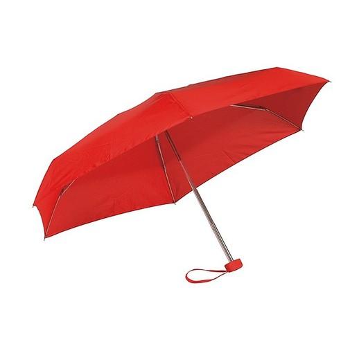 Алюминиевый мини-карманный зонтик  (красный)