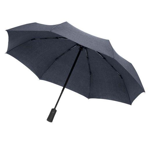 Складной зонт rainVestment, темно-синий меланж