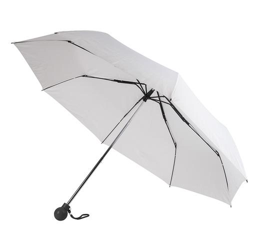 Зонт складной FANTASIA, механический, белый с черной ручкой