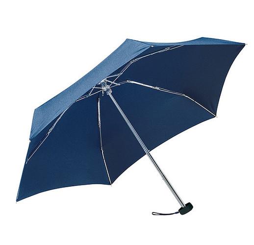 Алюминиевый мини-карманный зонтик  (синий)