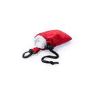 Дождевик DOMIN в чехле, 9х11х5см, красный, полиэтилен, полиэстер