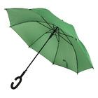 Зонт-трость HALRUM,  полуавтомат, зеленый, D=105 см, нейлон, пластик