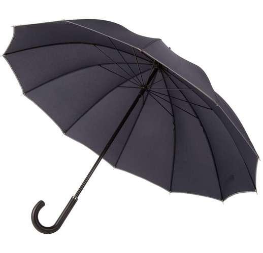 Зонт-трость Lui, темно-синий с серым