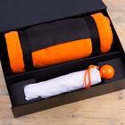 Набор подарочный RAINY DAY: зонт складной, механический, плед, коробка, оранжевый