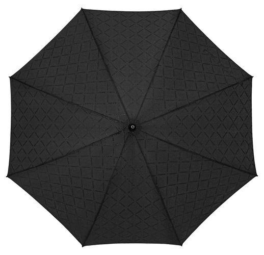 Зонт-трость Magic с проявляющимся рисунком в клетку, черный