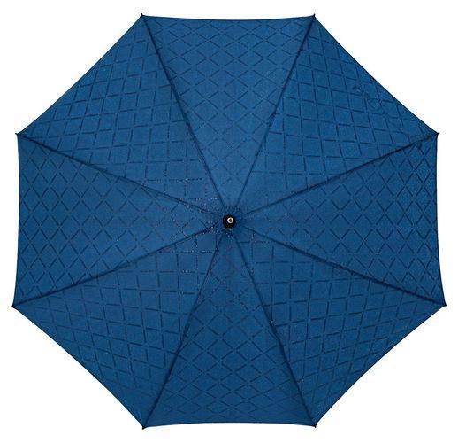 Зонт-трость Magic с проявляющимся рисунком в клетку, темно-синий