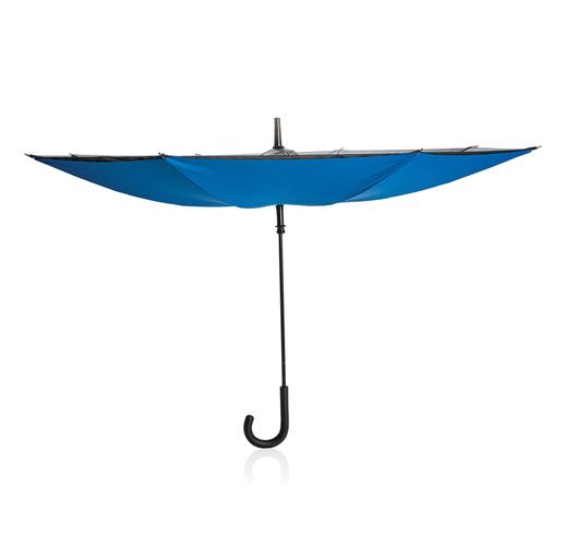 """Механический двусторонний зонт 23"""", синий"""