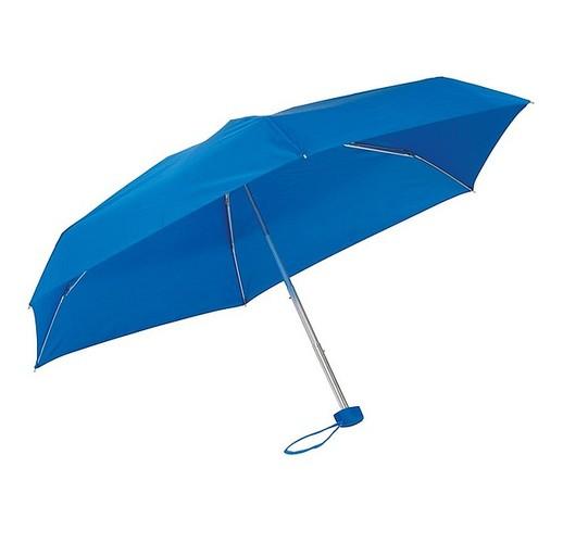 Алюминиевый мини-карманный зонтик  (королевский синий)